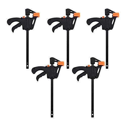 Mikonca 5x Einhandzwingen Set Nylon Klemmzwingen Schraubzwingen Set Schnellspannzwinge für Kleinstarbeit