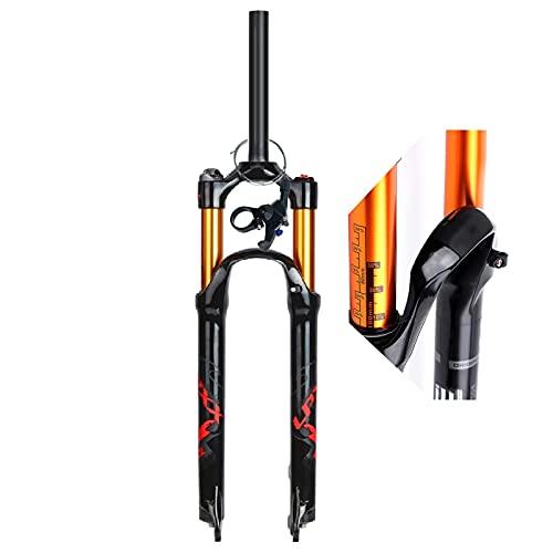 ZPPZYE Horquilla MTB 27,5 29 Pulgadas Ultraligero Aleación Aluminio 1-1/8' Tubo Recto Suspensión Bicicleta 26' Horquilla Control Remoto 120 mm (Color : Shoulder Control A, Size : 26 Inch)