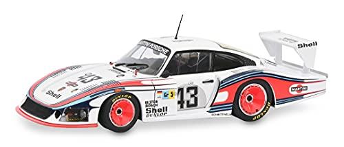 Solido 421185870 Porsche 935 Moby Dick, 43, 1978, 24h Lemans, Fahrer: Schurti/Stomelen, Modellauto, Maßstab 1:18, weiß