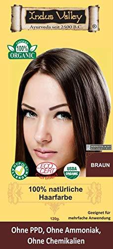Indonatura Indus Valley 100% natürliche Haarfarbe Braun