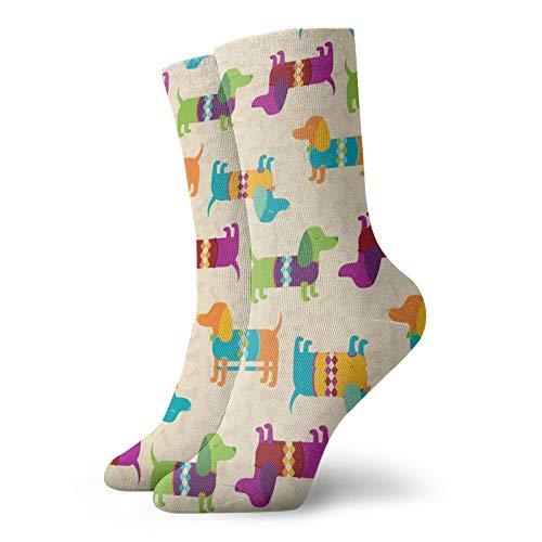 LLeaf Calcetines deportivos para hombre Calcetines deportivos de poliéster Dachshunds Patrón Calcetines para correr Calcetines de entrenamiento para hombres Mujeres