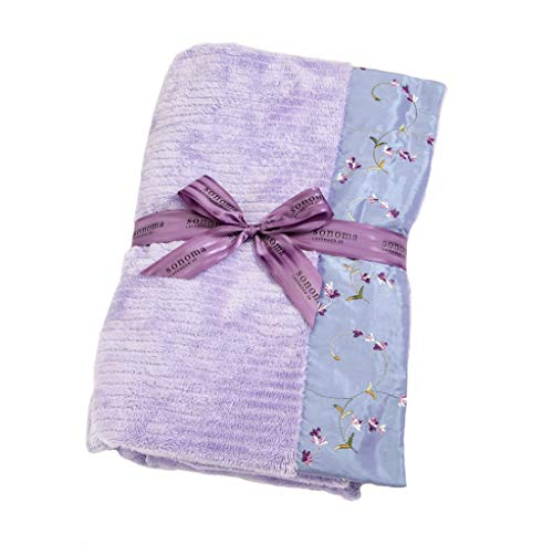 Sonoma Lavender Spa Blankie - Embroidered Lavender