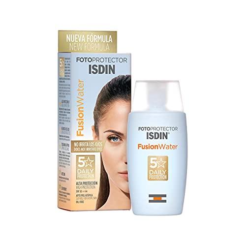 ISDIN Fotoprotector Fusion Water SPF 50   Ecran solaire visage à phase aqueuse pour un usage quotidien   Texture ultra-légère 50 ml