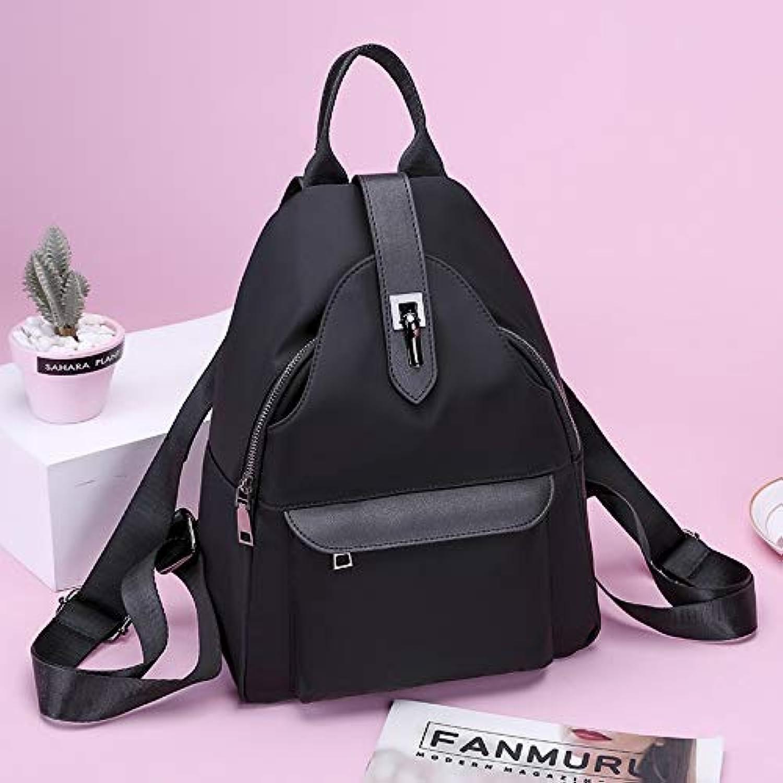 RYRYBH Wholesale Shoulder Bag New Waterproof Wearresistant Oxford Cloth College Wind Bag Korean Version Of The Wild Travel Small Backpack backpack (color   Black)