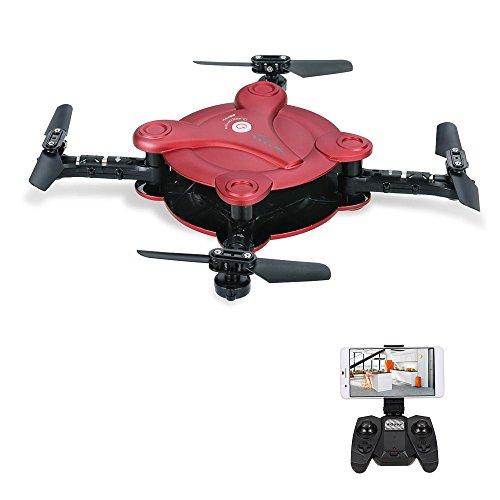 Goolsky FQ777 FQ17W 6-Axis Gyro Mini WiFi FPV Plegable G-Sensor de Bolsillo Drone con 0.3MP Cámara Altitud Hold RC Quadcopter