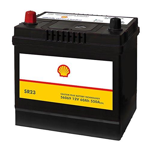 Shell SR23 Asia Autobatterie 12V 60AH 550A/EN 56069 Pluspol Links