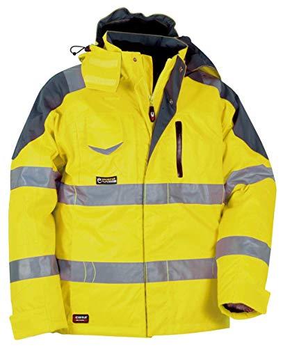 Cofra S.r.l. V017-0-00.Z50 Polsterjacke Rescue Größe 50 in gelb/anthrazit, YELLOW FLUO/ANTRAC