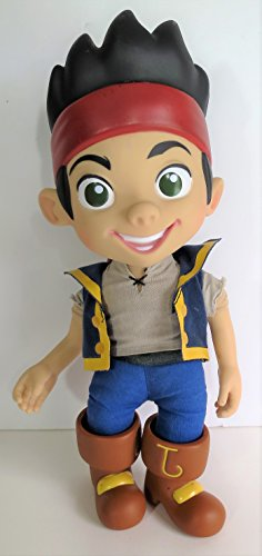 14' Disney JAKE and The Neverland Pirates - Talking Jake Figure (Vinyl Head ,Arms and Boots) -Rare