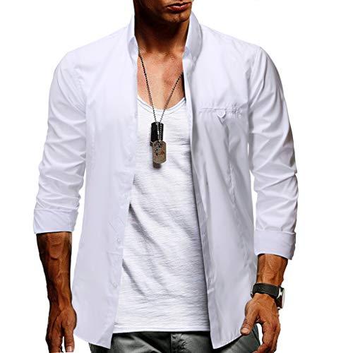 Men's Dress Shirts Long Sleeve Regular Fit Business Casual Button Down Muscle T-Shirt Blouse Pullover Jumper Sweatshirts