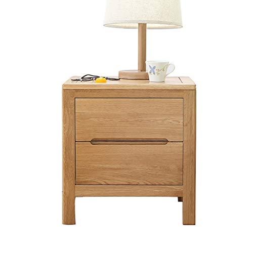 WWJZXC Mesita de noche con 2 cajones único diseño moderno mesa auxiliar para dormitorio sala de estar apartamento pecho