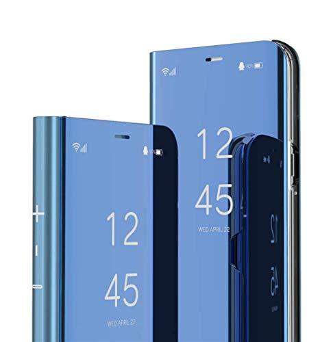 DG.MING Espejo Inteligente Funda para Xiaomi Mi Mix 3 Funda Espejo Ultra Slim Brillante Standing Mirror Flip Caso Clear View Case Cover