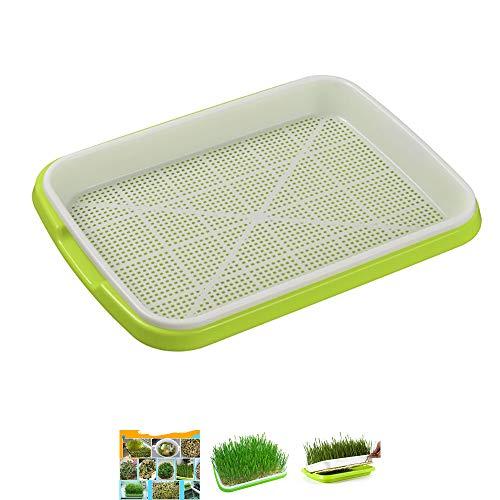 SOOTOP Saatgut-Anbau-Schalen, 2-lagige Kunststoff-Keimschale für Keimung, für gesundes Weizengras, gelbe Bohnen, grüne Bohnen-Samen