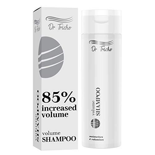 Dr Tricho Volumen Haar-Shampoo | 200 ml | Stellt die Haarelastizität wieder her | Befeuchtet & Nährt die Kopfhaut | Enthält Brennnessel- und Rosskastanienextrakte, Panthenol, Kollagen und Milchsäure
