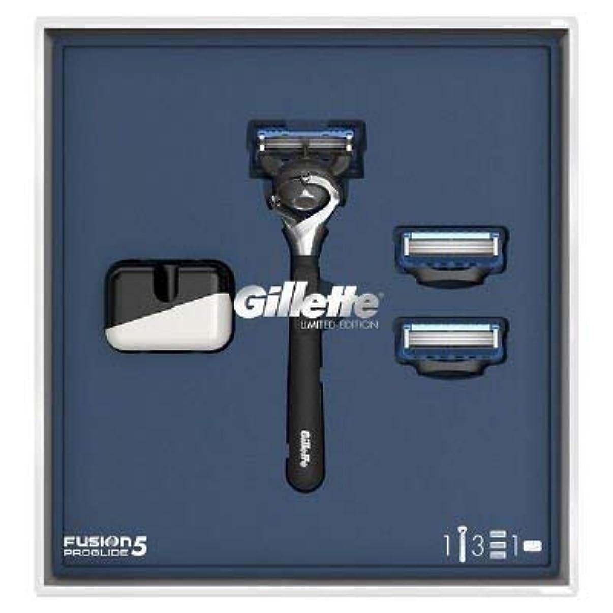 原稿抑圧カーペット(ジレット)Gilette プログライド 髭剃り本体+替刃3個 オリジナルスタンド付き スペシャルパッケージ P&G