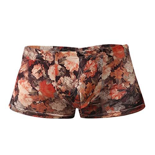 Daysing Herren Boho Unterhosen männer Slip mit Eingriff Boxershorts Jungen badetanga günstige und billig online Schiesser(Rot,Medium)