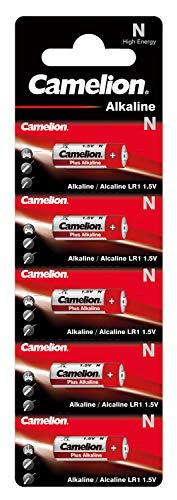 Camelion 11000501 Plus Alkaline, N/ LR1, Lady, 5er-Pack