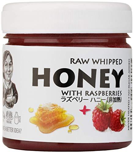 はちみつ 蜂蜜 ハチミツ 生 2個組 セット (ラズベリーハニー200g、ターメリックハニー200g)Raw Honey Set Raspberry 200g & Turmeric & Ginger 200g