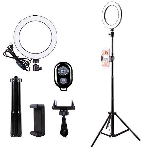 USB-ringlicht 20 cm / 7,8 inch met statief Standaard Dimbaar, multi-aanpasbaar ringlicht met smartphone-adapter Geen batterijen nodig voor make-up, livestreaming, YouTube-video-opnamen