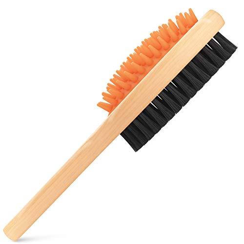 crbn Short Hair Dog Brush - Pet Brushing Comb for Short Hair Coats – Detangling and Shedding Coat Hair Remover