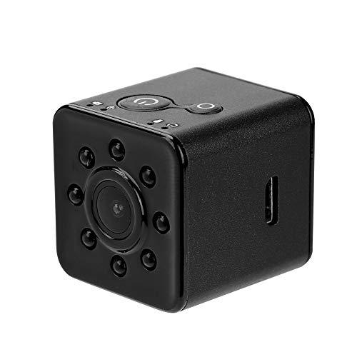 Lazmin112 Mini Action Cam WiFi, 1080P HD Obiettivo grandangolare 155 ° Videocamera Sportiva Impermeabile Videocamera Visione Notturna a infrarossi per Fotografia Aerea(Nero)