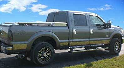 Made in USA! Works with 2011-2016 Ford F250 SuperDuty Crew Cab Short Bed Rocker Panel Trim 10.5