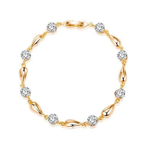 CHOUREN Pendant Necklace New Cool Gold Zircon Bracelet Jewelry Gift For Girls Women Girlfriends Zircon Bracelets Gift Jewelry SL0071