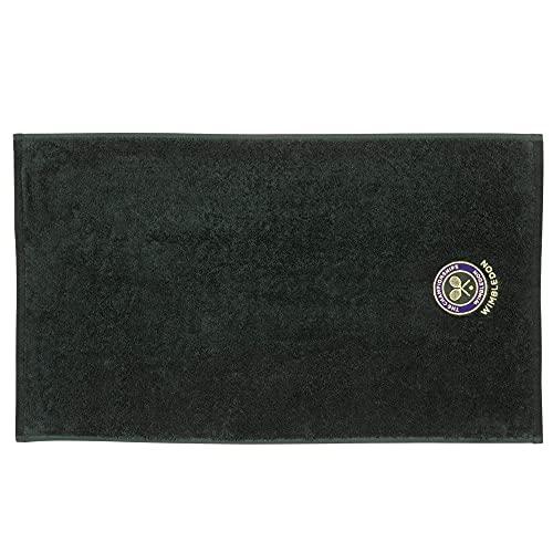 Wimbledon Toalla para hombre con emblema bordado, color verde