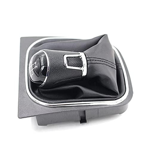 YZSM para Golf 5 6 MK5 GTI GTD para R32 para Scirocco2004-2008 Pomo De Cambio De Marchas Manual Palanca De Cambios Cubierta De Arranque Perilla Cambio Coche (Color : 5 Velocidad)