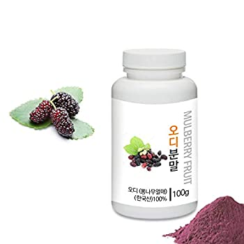 [Medicinal Herbal Powder] Prince Natural Organic Dried Mulberry Fruit Powder 프린스 오디 / 뽕나무열매 분말 3.53oz / 100g  Mulberry Fruit / 오디