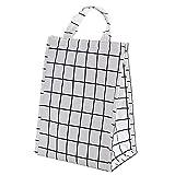 GYYARSX Bolsa Termica Porta Alimentos Portátil Gran Capacidad Bolsa Isotermica De Almuerzo para Picnics Trabajo Escuela(Size:25X14X34CM,Color:White)