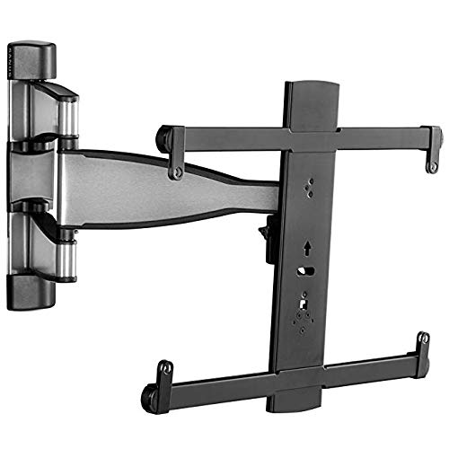 "Sanus Premium Full Motion TV Wall Mount for 32"" - 55"" TVs - Stainless Steel Finish with FluidMotion Design for Smooth Extension, Tilt,"