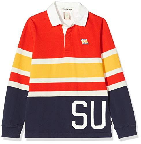 Scotch & Soda Shrunk Jungen Langärmliges Streifen Poloshirt, Mehrfarbig (Combo A 0217), 152 (Herstellergröße: 12)