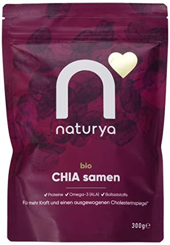 Naturya | Rohe Chia-Samen aus Ecuador, 300g | Rohe, vegane und glutenfreie Chia-Samen aus nachhaltigem Anbau