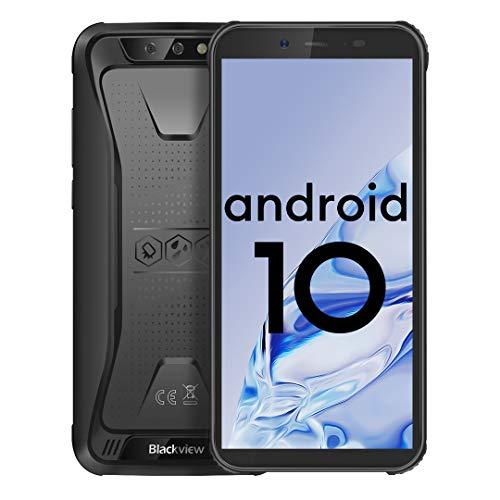 Téléphone Incassable, Blackview BV5500 Plus (2020), Android 10.0 Smartphone Portable, Écran 5,5 Pouces, 3 Go+32 Go, Batterie 4400 mAh, Dual SIM 4G, IP68 Étanche Antichoc Cell Phone, GPS, NFC,Face ID