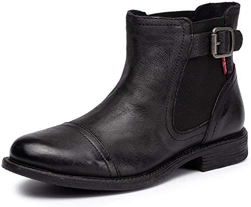 Levi's Damen Schuhe Maine W Chelsea - Stiefeletten, Ankle Boots, Leder, schwarz (39 EU)