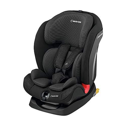 Maxi-Cosi Titan mitwachsender Kinderautositz mit ISOFIX und Schlafposition, Gruppe 1/2/3 Kindersitz (9-36 kg), nutzbar ab 9 Monate bis 12 Jahre, Nomad Black
