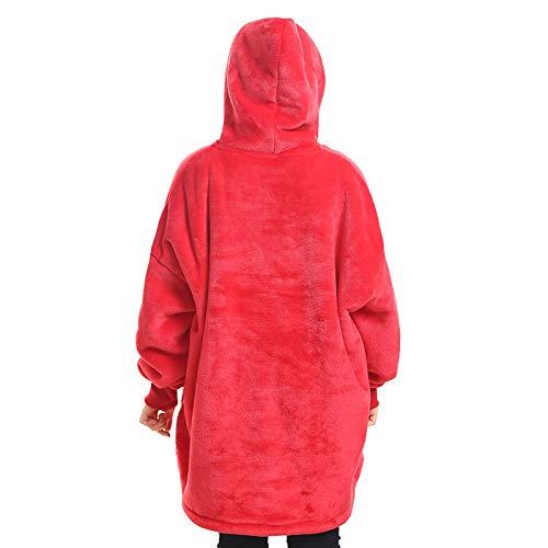 Segorts - Sudadera de gran tamaño con capucha de Sherpa gigante de invierno reversible con bolsillo grande para adultos, hombres y mujeres, adolescentes, talla única