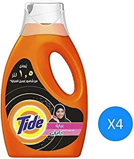 Tide Abaya With Touch Of Downy Liquid Detergent - 1.5 L 4 Pcs