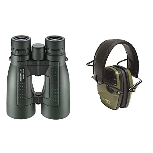 Eschenbach Optik Fernglas Sektor D 8x56 compact+, wasserdicht, robust, grün & Honeywell 1013530 Howard Leight Impact Sport Ohrenschützer
