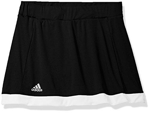 adidas Girls Tennis Court Skort, Black, Large