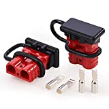 Orion Motor Tech Wire Connector 2 Pack, 50A Wire Harness Plug Kit for 6 to 12 Gauge Cables, 12V to 36V Battery Quick Connect Disconnect Set for Car Bike ATV Winches Lifts Motors More, Set of 2, Red