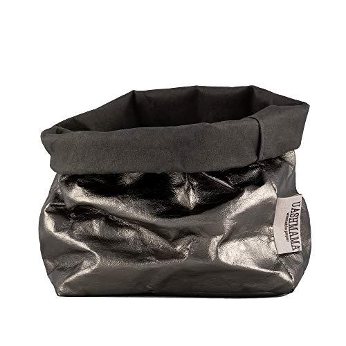 UASHMAMA Papiertasche (klein, mittel, groß) Large Dark Grey/Peltro