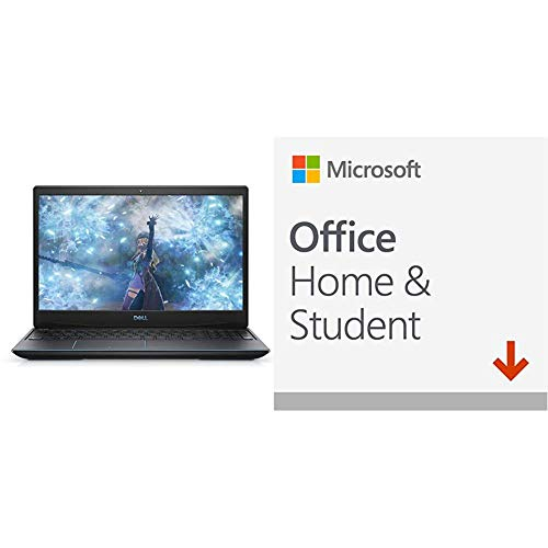 Dell G3 15 3000 15.6-inch FHD Anti-Glare LED Gaming Laptop, Windows 10 Home + Microsoft Office Home and Student 2019