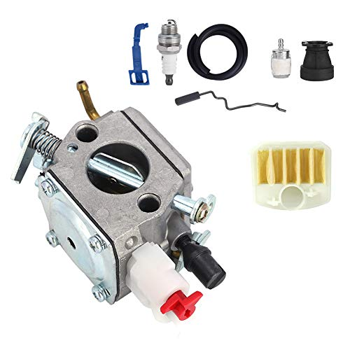 Zerodis Kit de carburador, Kit de bujías de carburador de 8 Piezas con Alta precisión para Motosierra Husqvarna 350 346XP 353340345