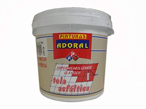 ADORAL - Pintura Tela Asfáltica Impermeabilizante - Transitable - Terrazas y Fachadas 3,5 l. TRANSPARENTE
