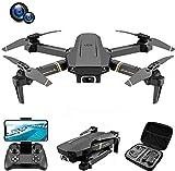 JJDSN Dron con cámara Dual 4k, dron Plegable para niños y Adultos, helicóptero de Cuatro Ejes Adecuado para Principiantes, retención de Altura, sígueme, niño niña y Juguete de Control Remoto para