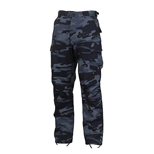 Rothco Camo Tactical BDU (Battle Dress Uniform) Military Cargo Pants, Midnight Blue Camo, M