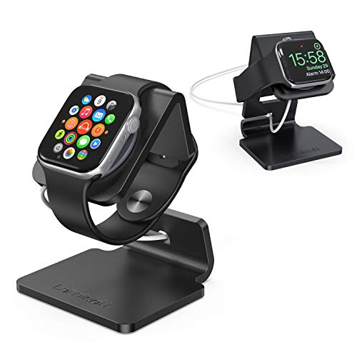 Stand for Apple Watch, Lamicall Charging Stand : Desk Watch Stand Holder Charging Dock Station Designed for Apple Watch Series 5 / Series 4 / Series 3/2 / 1 / 44mm / 42mm / 40mm / 38mm - Black