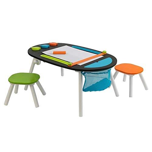 KidKraft Deluxe Chalkboard Art Table with Stools (3+ Years)