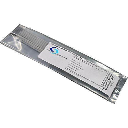 Schweisselektroden Edelstahl 1.4430-316 - 10 Stück Von 1.6 bis 3.2 mm [ 2.5 x 300 mm - 10 Stück ]